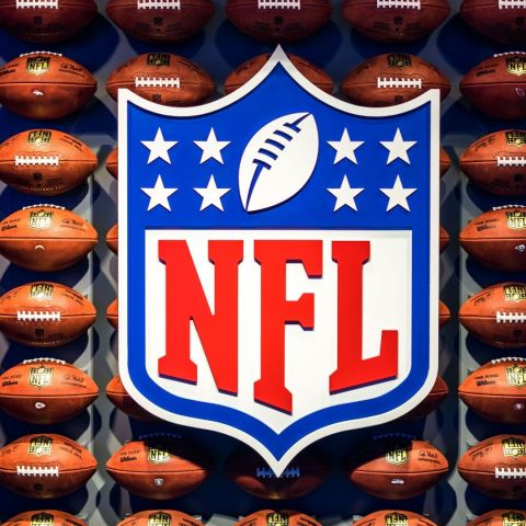 NFL Logo and Footballs