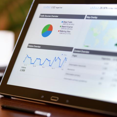 Using a tablet to optimize marketing spend through data analytics