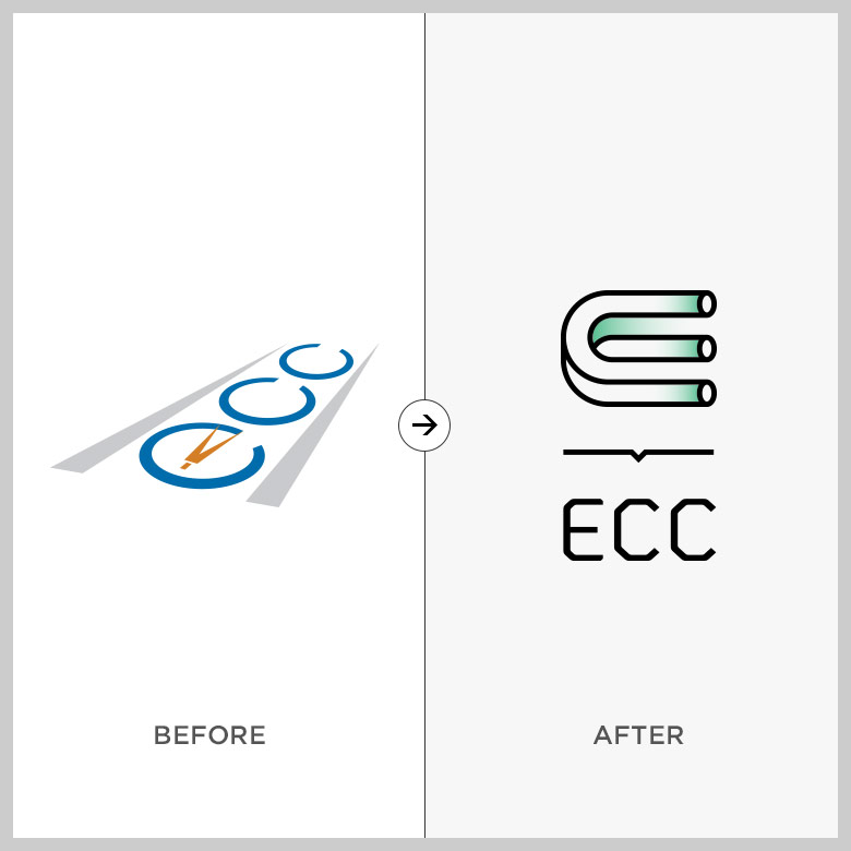 ECC before and after logo