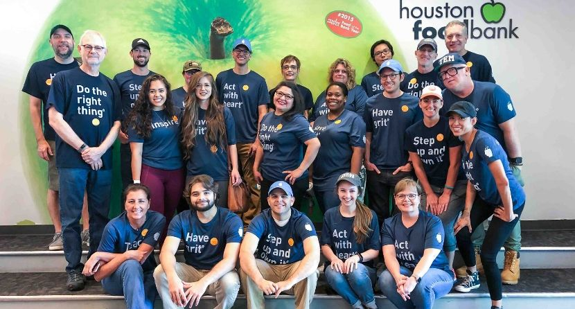 BrandExtract team at Houston Food Bank