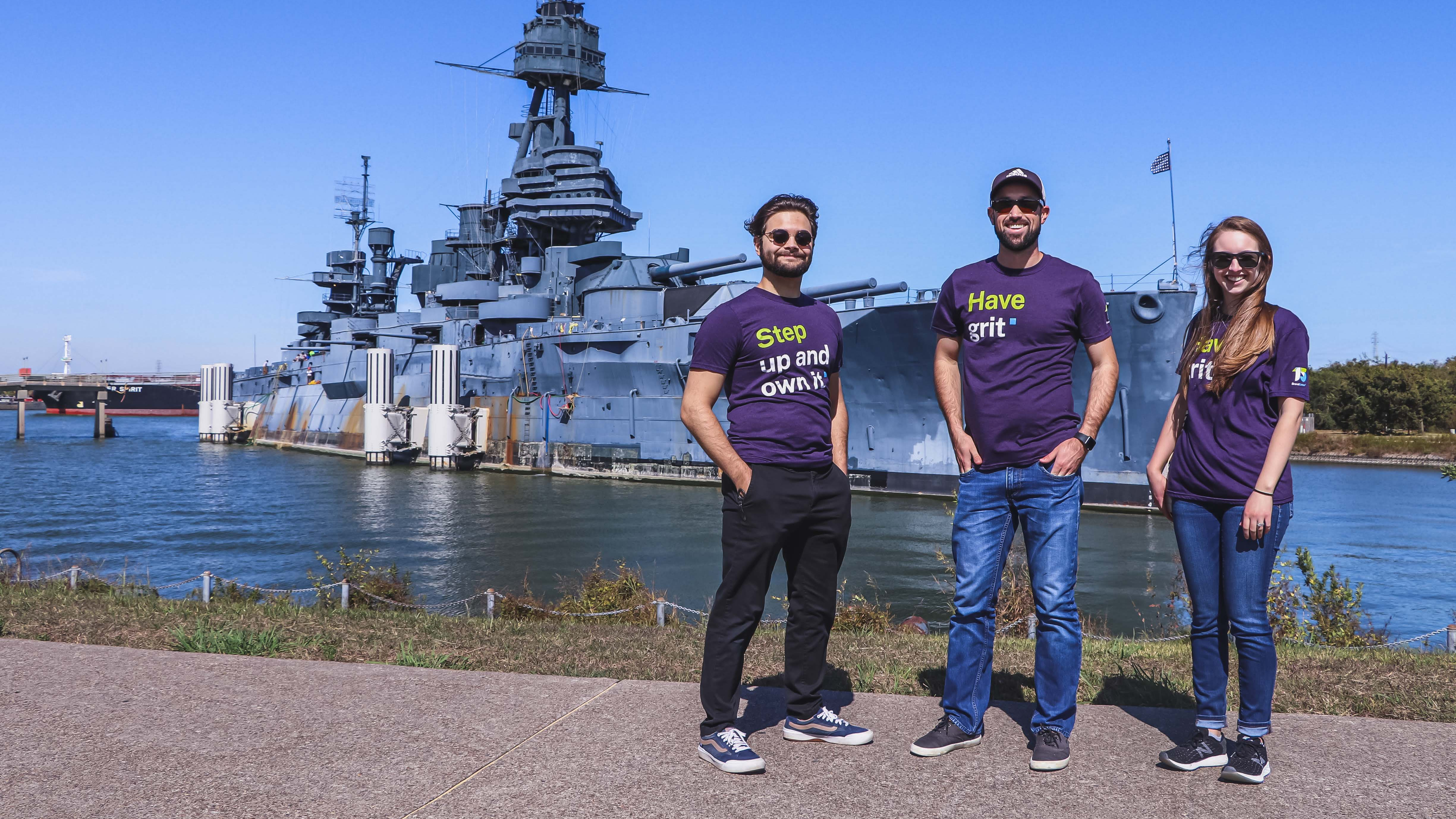 The BE team visits the Battleship Texas.